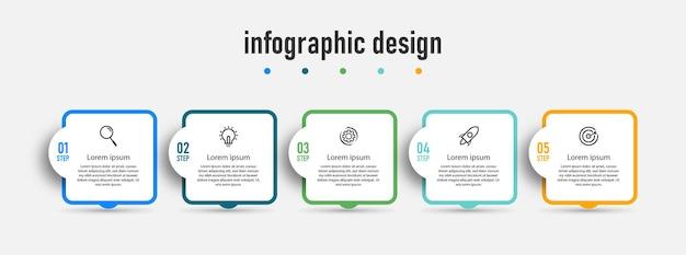 Steps timeline infographics design