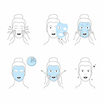 Steps for using correctly a sheet mask