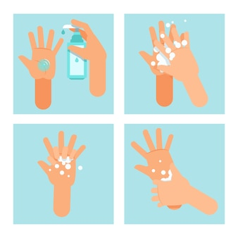 Steps on using hand sanitizer properly