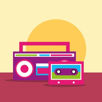 Stereo sound radio and cassette hippie free spirit