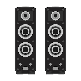Stereo speaker music bass. sound electronic equipment audio volume. loud acoustic system
