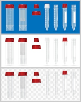 Sterile containers for analysis.