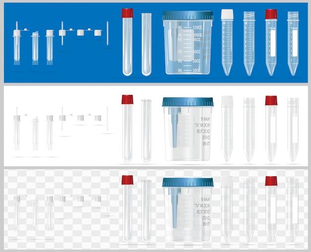 Стерильные контейнеры для анализа.