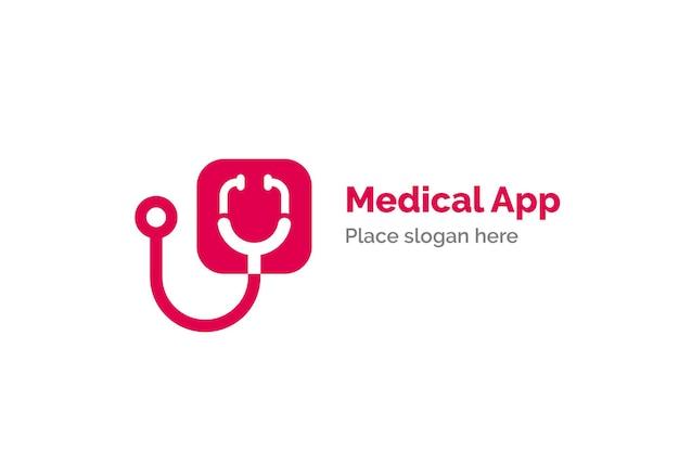 Stethoscope icon design illustration. health and medicine logo template.