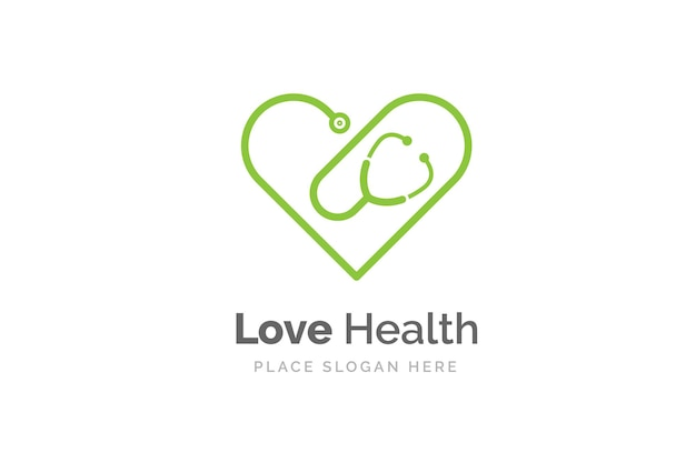 Stethoscope icon with heart shape. health and medicine symbol.