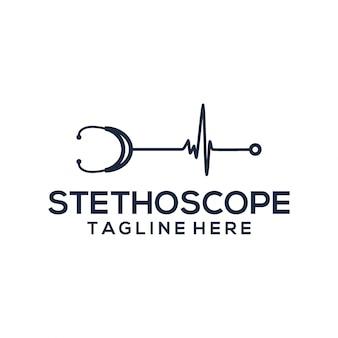 Stethoscope logo template