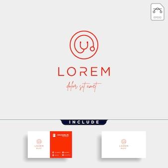 Stethoscope o letter logo vector design icon