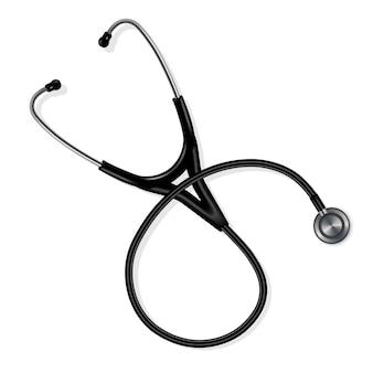 Stethoscope (phonendoscope) in black.