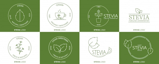 Stevia linear badge pack