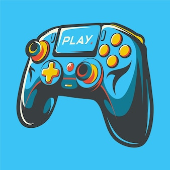 Stick controller art illustration