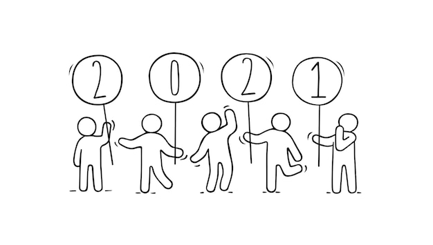 Stick figure doodle illustration
