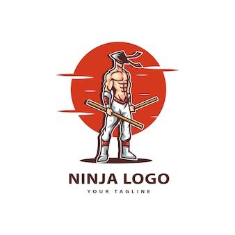 忍者のロゴを貼り付けます