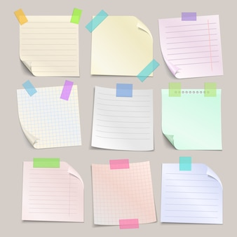 Stick note papers set