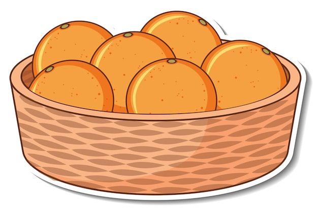 Cestino adesivo con tante arance
