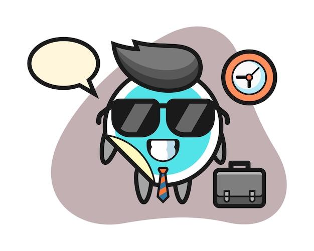Наклейка мультфильм как бизнесмен