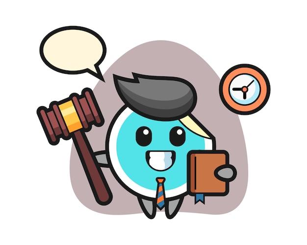 Наклейка мультфильм как судья
