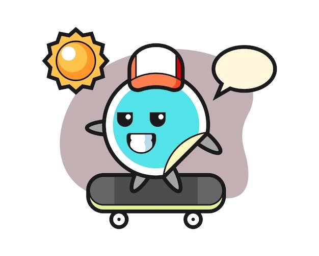 Sticker cartoon ride a skateboard
