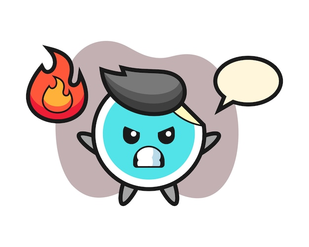 Sticker cartoon with angry gesture