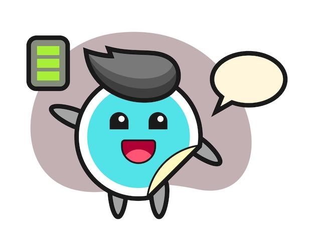 Стикер мультфильм с энергичным жестом