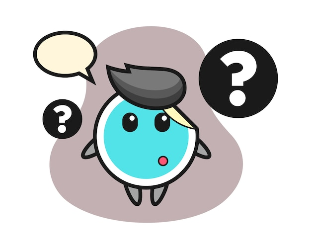 Sticker cartoon with the question mark