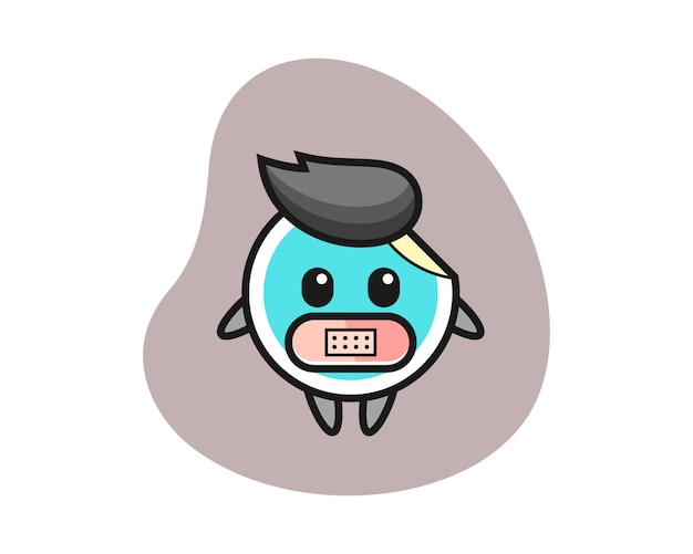 Стикер мультфильм с лентой на рот