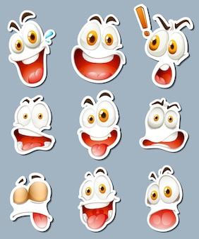 Sticker design for facial expressions