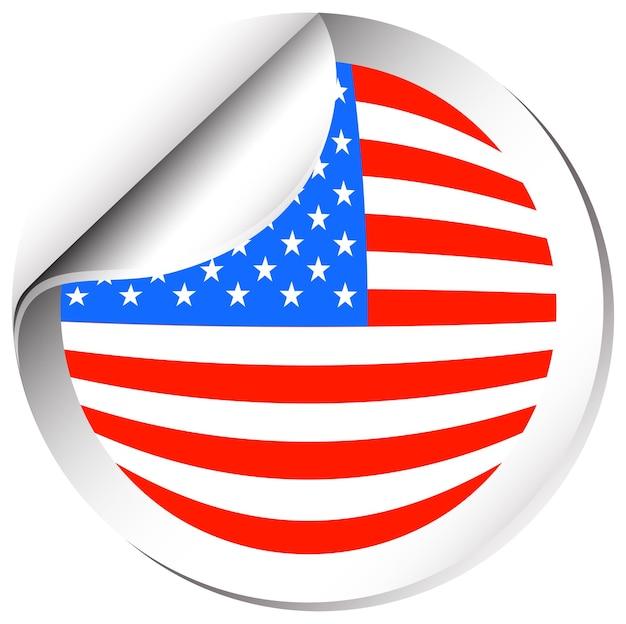 Дизайн наклейки для флага америки