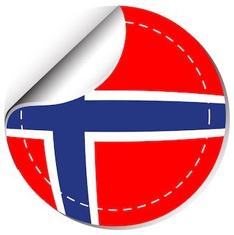 Sticker design for norway flag