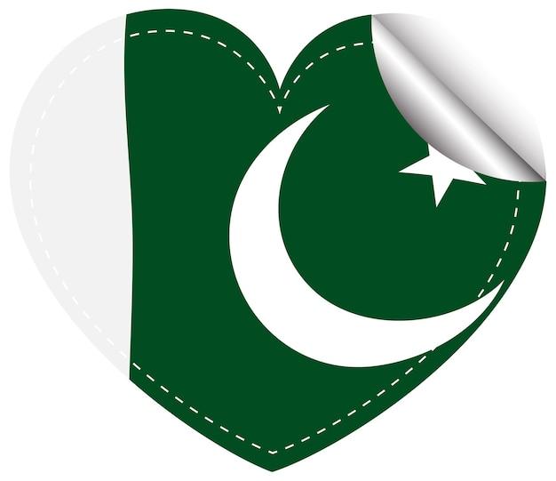 Design adesivo per la bandiera del pakistan