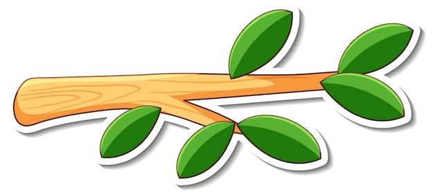 Disegno adesivo con un ramo di albero isolato