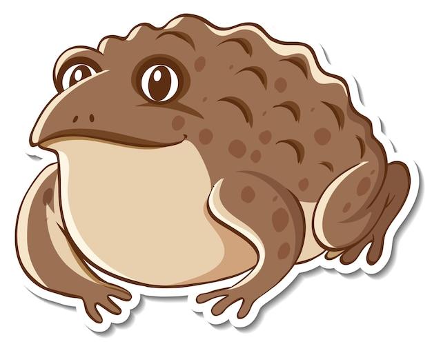 Дизайн наклейки с милой жабой изолированы