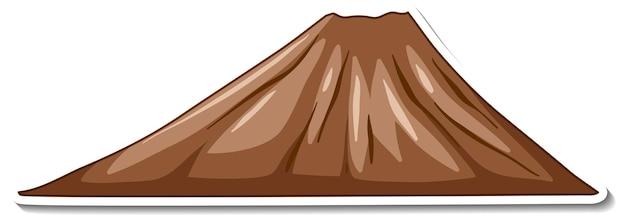 Disegno adesivo con montagna vuota isolata