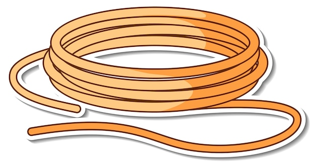 分離されたロープのロールとステッカーのデザイン