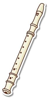 Наклейка флейта музыкальный инструмент