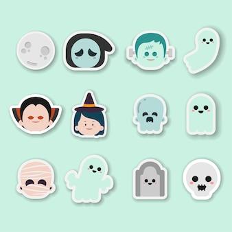 Sticker halloween hand drawn illustration
