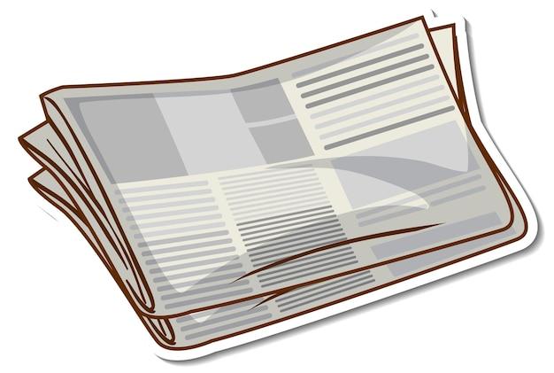 白い背景の上のステッカー新聞