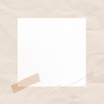 Sticker note vector lined paper element