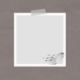 Elemento di cornice per foto di vettore di nota adesiva in stile memphis