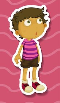 Наклейка с изображением мальчика, стоящего