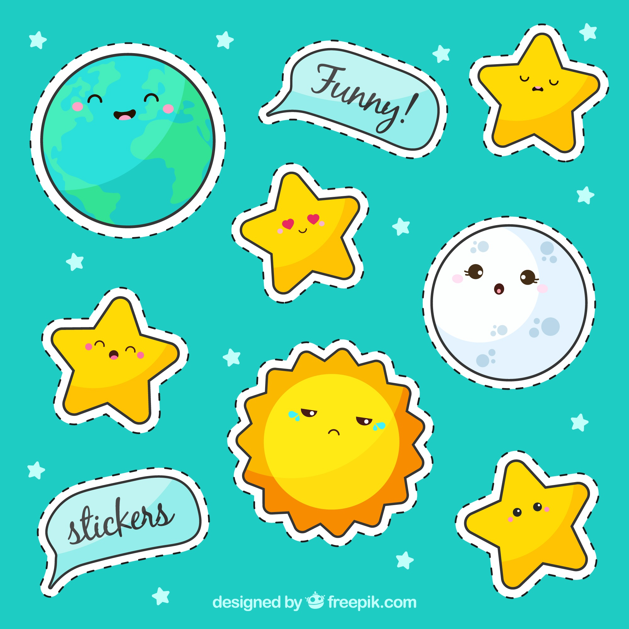 Sticker pack with stars
