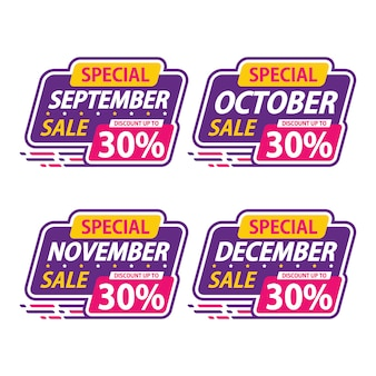 Sticker sale special monthly promotion september discount