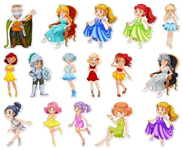 Набор наклеек с разными сказочными героями мультфильмов