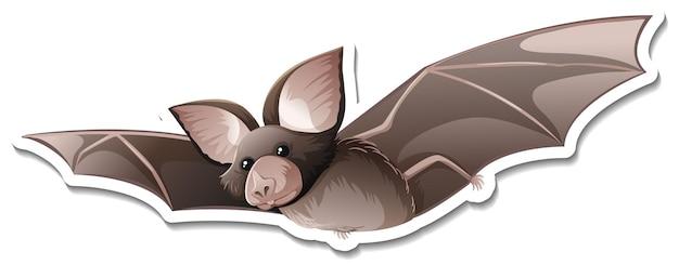 Un modello di adesivo del personaggio dei cartoni animati di pipistrello