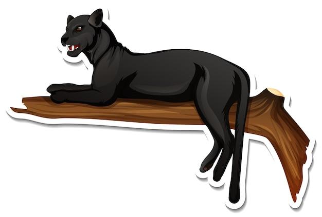 Un modello di adesivo del personaggio dei cartoni animati della pantera nera