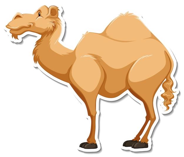 A sticker template of camel cartoon character