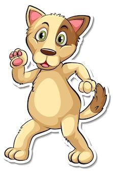 Un modello di adesivo del personaggio dei cartoni animati del cane