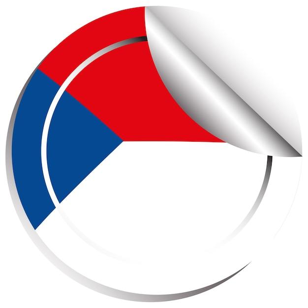チェコ共和国の旗のステッカーテンプレート