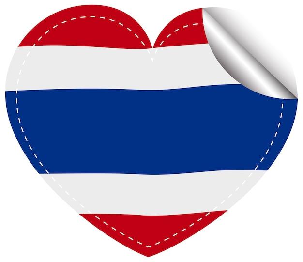 태국 국기 스티커 템플릿