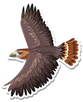 Un modello di adesivo del personaggio dei cartoni animati di falco
