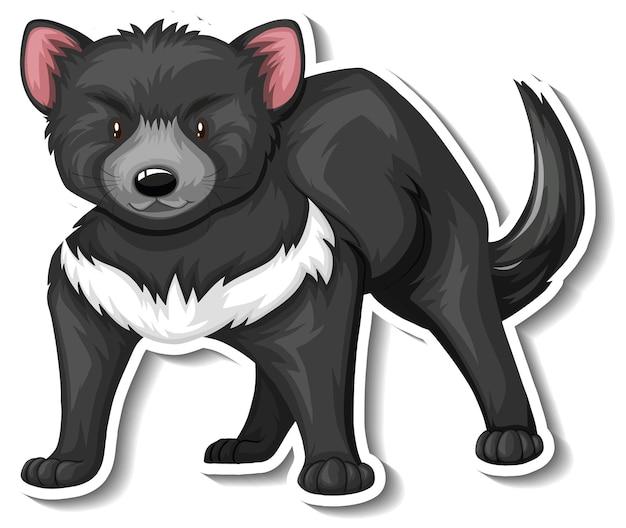 Un modello di adesivo del personaggio dei cartoni animati del diavolo della tasmania